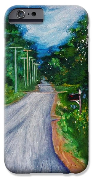Rural Maine Roads iPhone Cases - Country Road iPhone Case by Nancy Milano