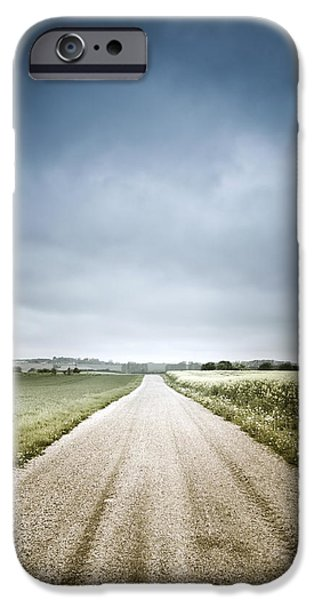 Country Road Through Fields, Denmark iPhone Case by Evgeny Kuklev