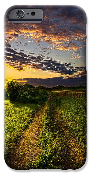 Dirt iPhone Cases - Country Roads Take Me Home iPhone Case by Phil Koch
