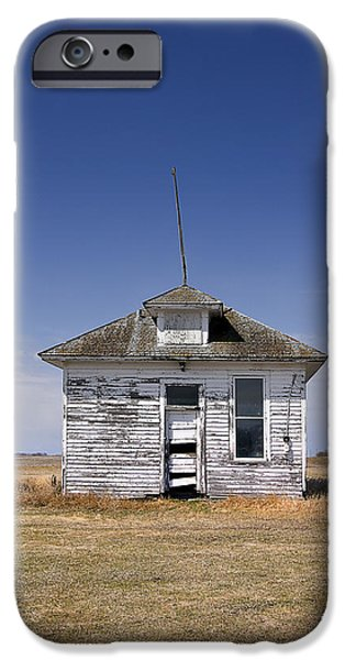 Abandoned School House. iPhone Cases - Country School Building iPhone Case by Donald  Erickson