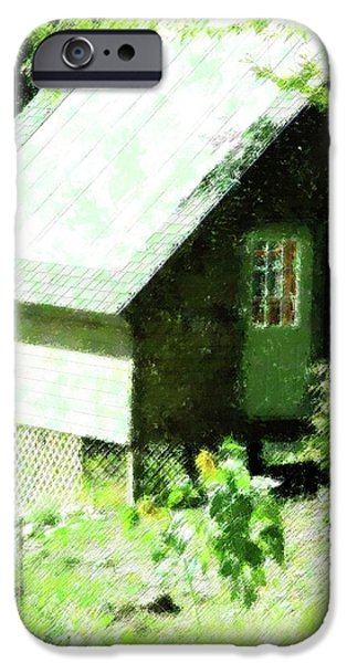 Country Shed iPhone Case by Florene Welebny