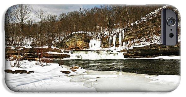 Country Snow iPhone Cases - Country Snow iPhone Case by John Rizzuto