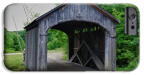 Recently Sold -  - Covered Bridge iPhone Cases - Country Store Bridge 5656 iPhone Case by Guy Whiteley