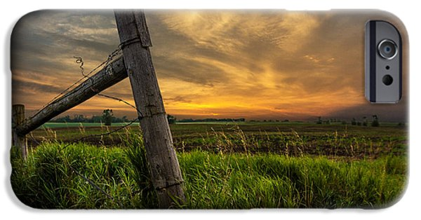 Minnesota iPhone Cases - Country Sunrise iPhone Case by Aaron J Groen