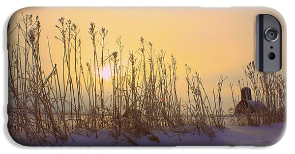 Snow Scene iPhone Cases - Country Sunrise iPhone Case by Inspired Arts