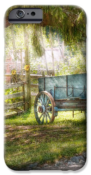 Country - The old wagon out back  iPhone Case by Mike Savad