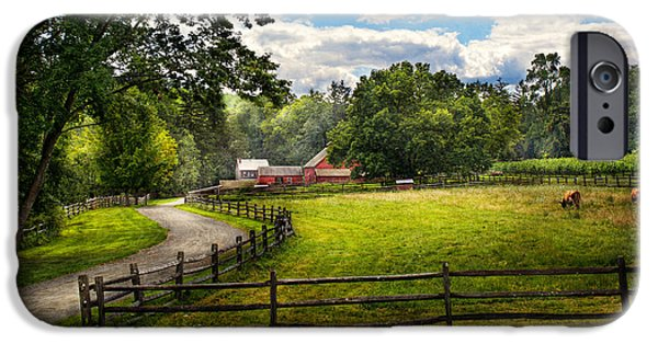 Old Country Roads Photographs iPhone Cases - Country - The pasture  iPhone Case by Mike Savad