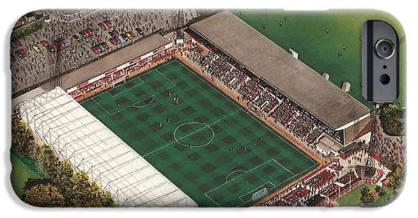 Swindon iPhone Cases - County Ground - Swindon Town iPhone Case by Kevin Fletcher