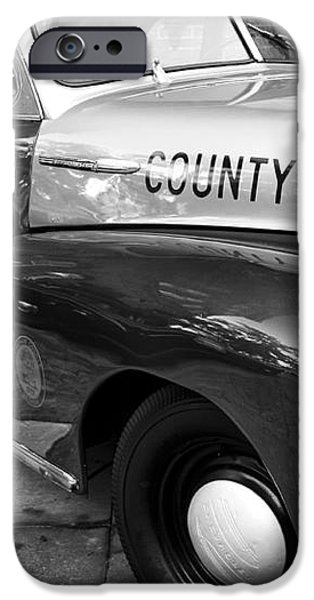 County Police in black and white iPhone Case by John Rizzuto