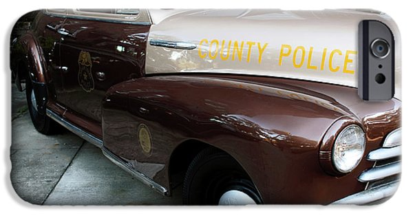 Law Enforcement Art iPhone Cases - County Police iPhone Case by John Rizzuto