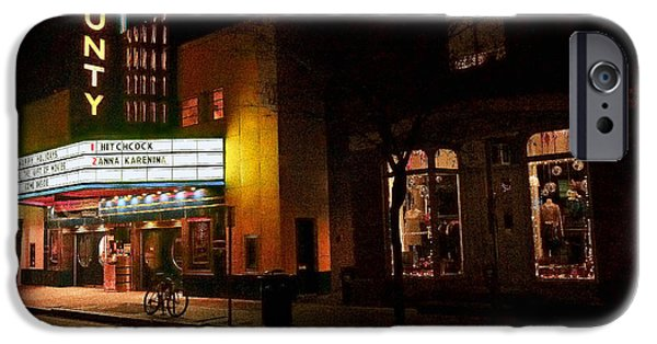 Bucks County iPhone Cases - County Theater at Night iPhone Case by William Jobes