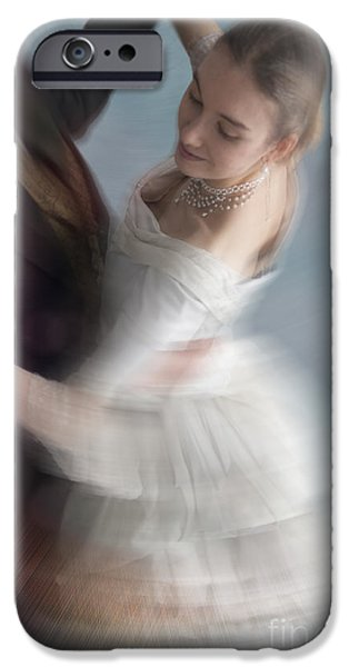 Women Together iPhone Cases - Couple Dancing In Evening Wear At The Ball  iPhone Case by Lee Avison