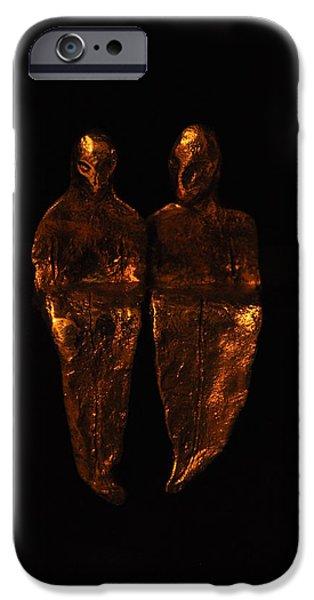 Couple Sculptures iPhone Cases - Couple iPhone Case by RajKumar Gade