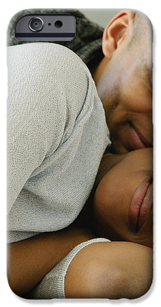 Couple Snuggles iPhone Case by Darren Greenwood