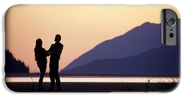 Women Together iPhone Cases - Couple  Sunset Turnagain Arm Sc Ak iPhone Case by Chris Arend
