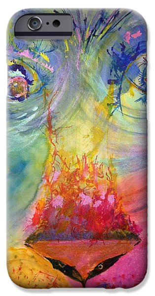 Discernment iPhone Cases - Courage iPhone Case by Deborah Brown Maher