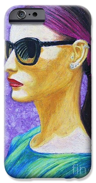 Thinking Pastels iPhone Cases - Courage iPhone Case by Griselda Duran