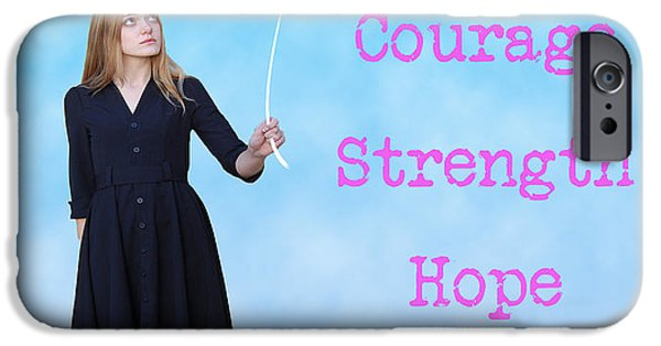 Conceptual iPhone Cases - Courage.  Strength.  Hope. iPhone Case by Juli Scalzi