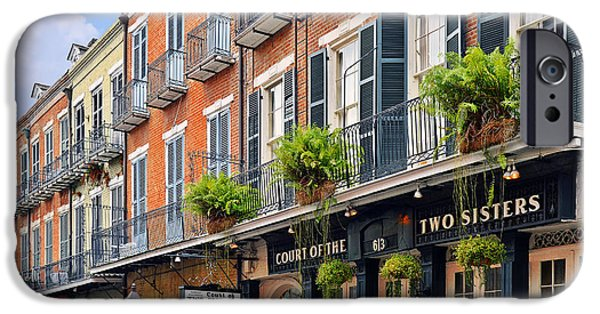 Sisters iPhone Cases - Court of Two Sisters New Orleans iPhone Case by Christine Till