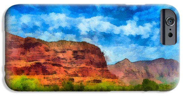Oak Creek Digital iPhone Cases - Courthouse Butte Sedona Arizona iPhone Case by Amy Cicconi