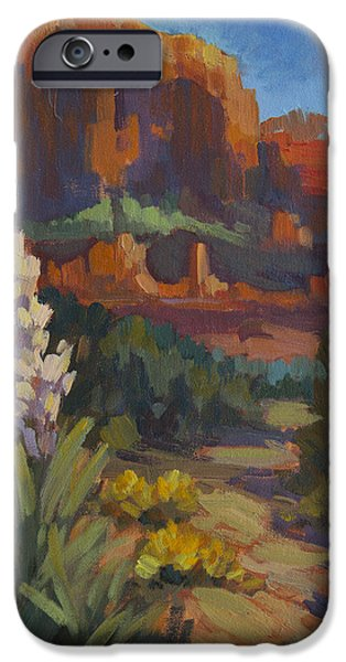 Sedona iPhone Cases - Courthouse Rock Sedona iPhone Case by Diane McClary