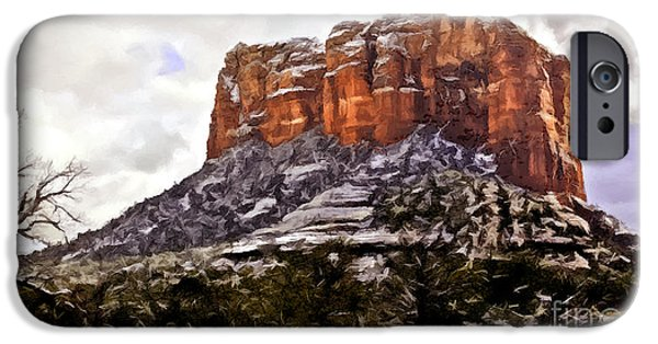 Oak Creek Digital iPhone Cases - Courthouse Rock Sedona iPhone Case by  Bob and Nadine Johnston