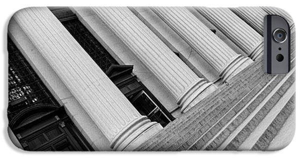Distortion iPhone Cases - Courthouse Steps, Nyc, New York City iPhone Case by Panoramic Images