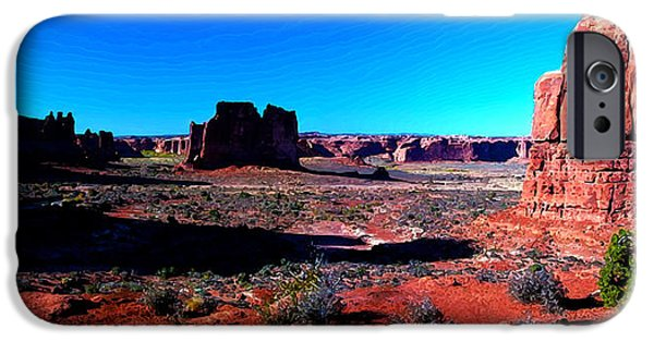 Red Rock iPhone Cases - Courthouse Towers iPhone Case by Bill Caldwell -        ABeautifulSky Photography