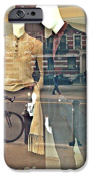 Sarah Loft iPhone Cases - Courtship on Broadway iPhone Case by Sarah Loft