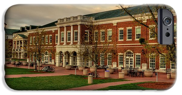 Dining Hall iPhone Cases - Courtyard Dining Hall - WCU iPhone Case by Greg and Chrystal Mimbs