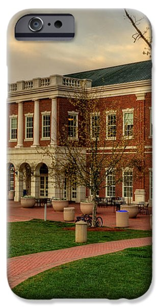 Courtyard Dining Hall - WCU iPhone Case by Greg and Chrystal Mimbs