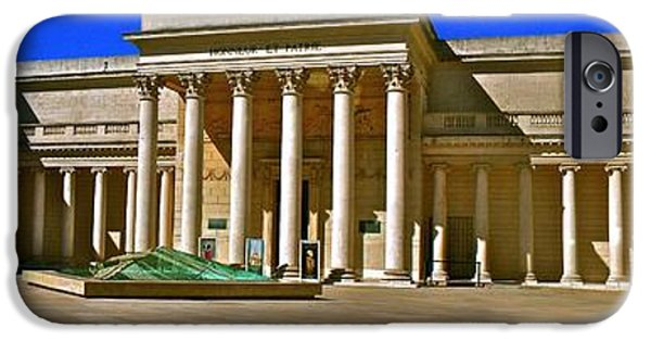 Statues Pyrography iPhone Cases - Courtyard of The Palace of  the Legion of Honor  iPhone Case by DUG Harpster