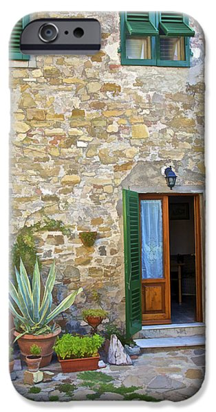 Courtyard of Tuscany iPhone Case by David Letts
