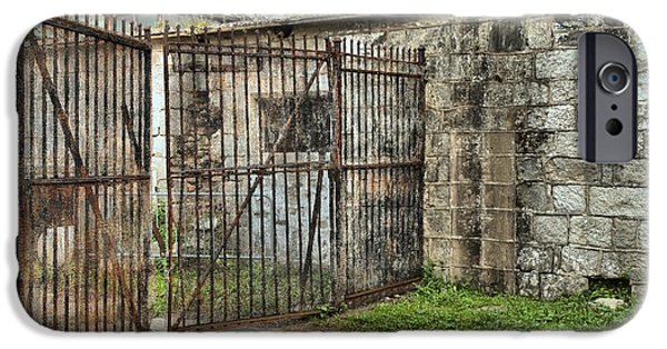 Historic Site iPhone Cases - Courtyard At The Jail iPhone Case by Adam Jewell