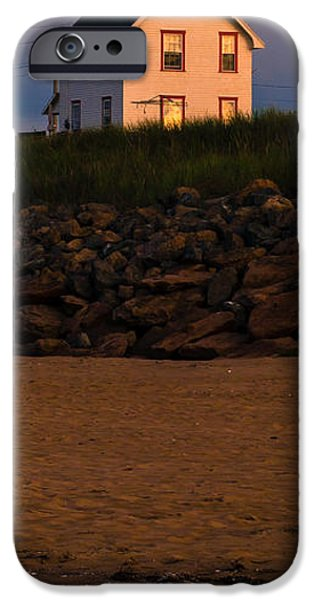 Lighthouse iPhone Cases - Cousins Shore Lighthouse PEI iPhone Case by Edward Fielding