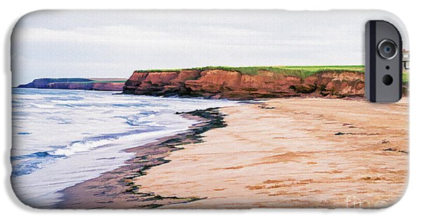 Prince iPhone Cases - Cousins Shore Prince Edward Island iPhone Case by Edward Fielding