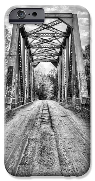 Mayberry iPhone Cases - Coutry Roads in Brooklyn BW iPhone Case by JC Findley