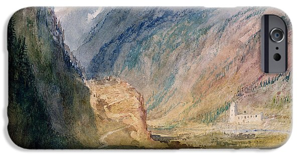 Fog Mist iPhone Cases - Couvent Du Bonhomme Chamonix iPhone Case by Joseph Mallord William Turner