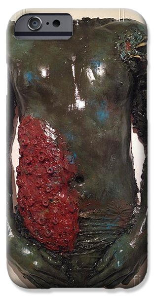 Alga Sculptures iPhone Cases - Cover Up iPhone Case by Catherine Maroney