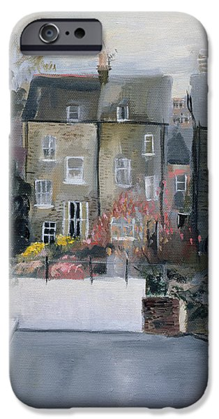 Terraces iPhone Cases - Coverdale Road Oil On Canvas iPhone Case by Sophia Elliot