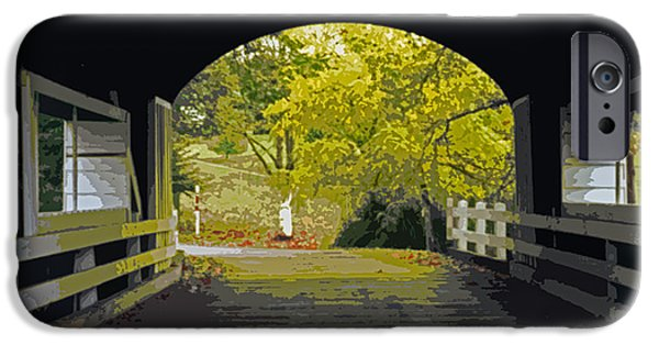 Covered Bridge iPhone Cases - Covered Bridge 1 iPhone Case by Charlette Miller