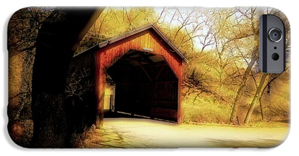 Covered Bridge iPhone Cases - Covered Bridge 2 iPhone Case by Cheryl Young