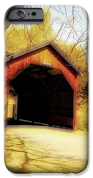 Covered Bridge 2 iPhone Case by Cheryl Young