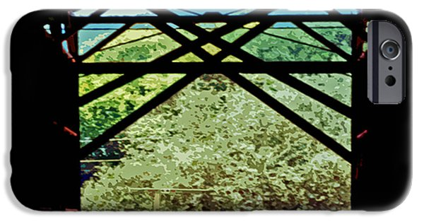 Covered Bridge iPhone Cases - Covered Bridge 3 iPhone Case by Charlette Miller