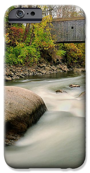 Covered Bridge at Bull Run - Kent Connecticut iPhone Case by Thomas Schoeller