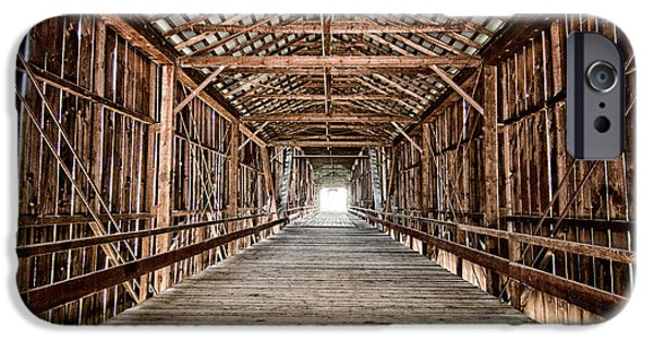 Covered Bridge iPhone Cases - Covered Bridge iPhone Case by Cat Connor