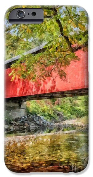 Covered Bridge iPhone Cases - Covered Bridge iPhone Case by Edward Fielding