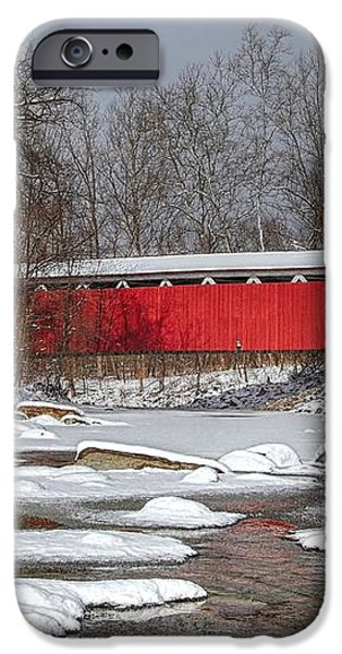 covered bridge Everett rd. iPhone Case by Daniel Behm