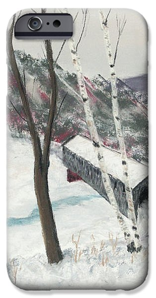 Covered Bridge iPhone Case by George Burr
