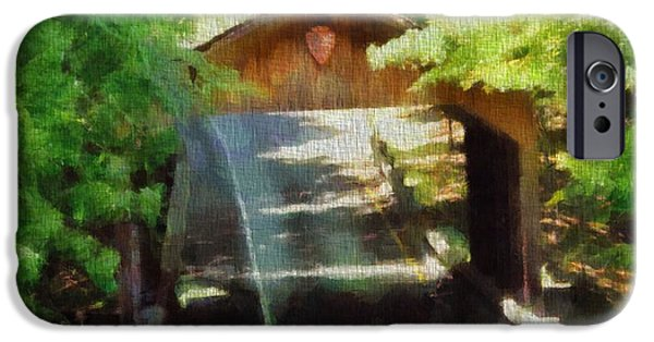 Covered Bridge Paintings iPhone Cases - Covered Bridge In Sleeping Bear Dunes National Lakeshore iPhone Case by Dan Sproul